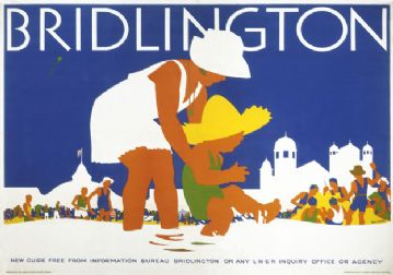 Bridlington, Yorkshire. Vintage LNER Travel poster by Tom Purvis. c1935